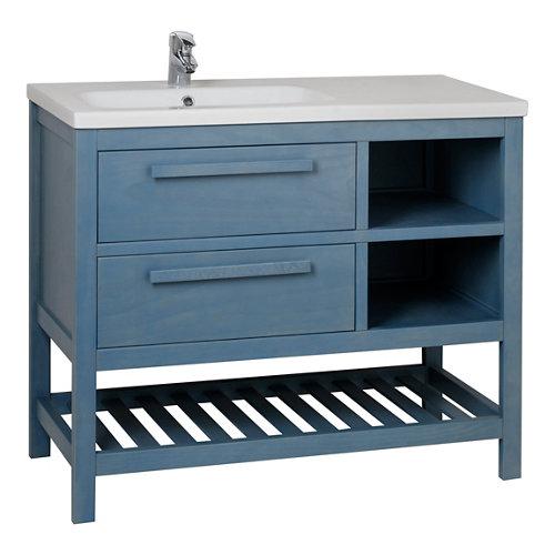 Mueble de baño amazonia azul 100 x 45 cm