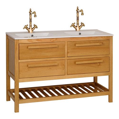 Mueble de baño amazonia roble 120 x 45 cm
