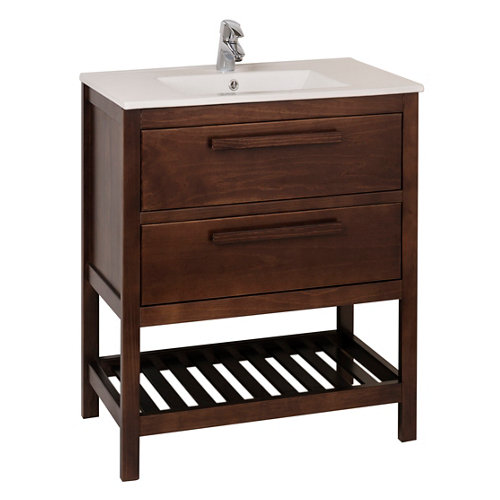 Mueble baño amazonia marrón 60 x 45 cm