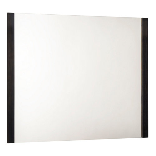 Espejo de baño amazonia gris / plata 100 x 80 cm