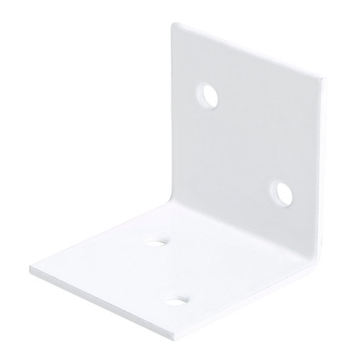 Escuadra ancha blanca 40x40x40 mm