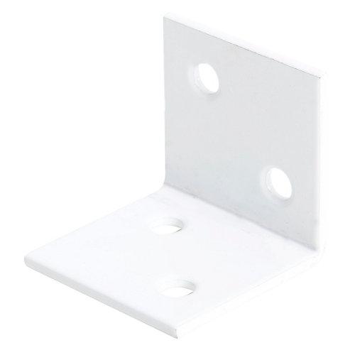 Escuadra ancha blanca 30x30x30 mm