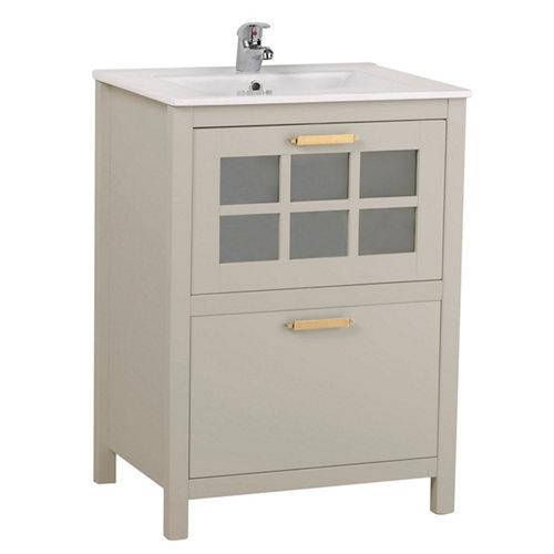 Mueble baño nizza perla 60 x 45 cm