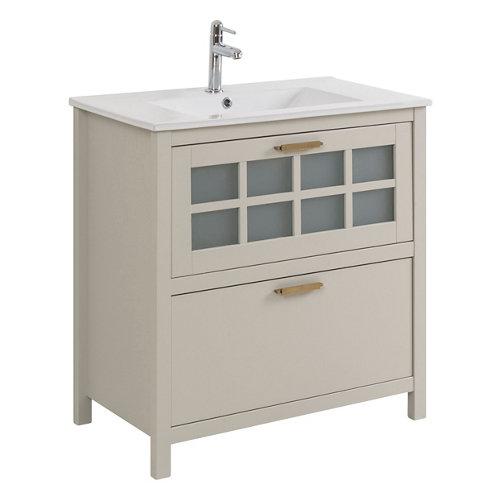 Mueble baño nizza perla 80 x 45 cm