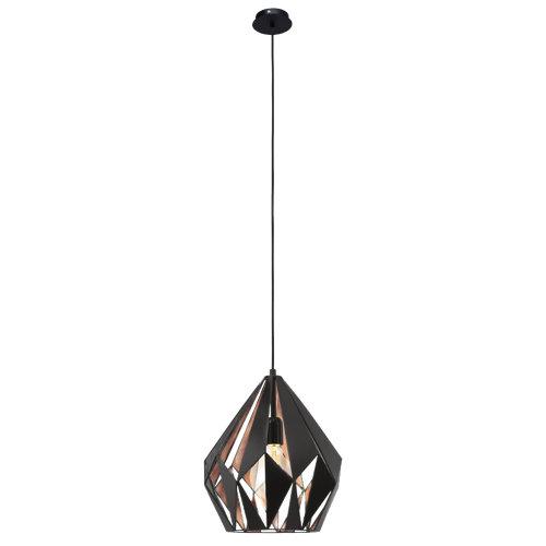 Lámpara de techo carlton negra y cobre