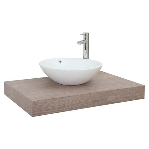 Encimera lavabo nature roble natural de 100x10x51 cm