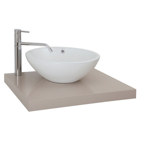 Encimera lavabo onix gris de 60x5x51 cm