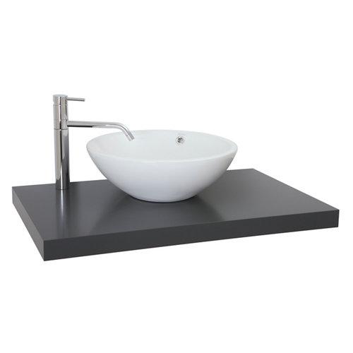 Encimera lavabo onix gris piedra de 100x5x51 cm