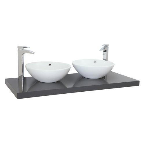 Encimera lavabo onix gris de 120x5x51 cm