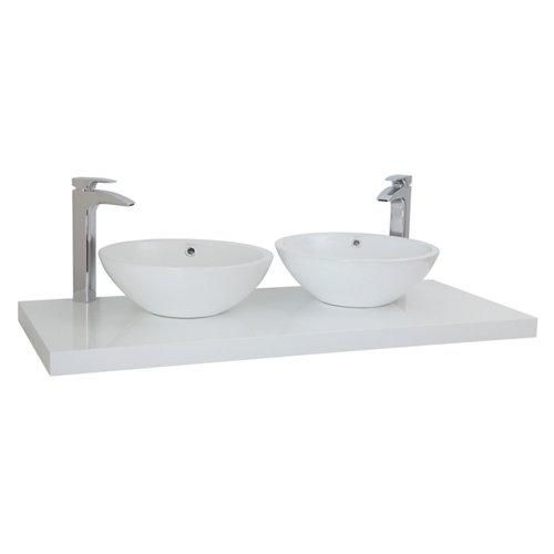 Encimera lavabo onix blanco de 120x5x51 cm
