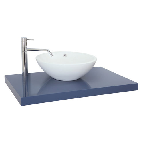 Encimera lavabo onix azul de 100x5x51 cm