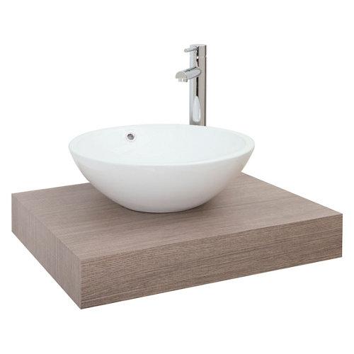 Encimera lavabo nature roble natural de 60x10x51 cm
