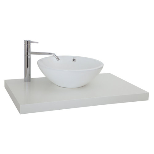 Encimera lavabo onix blanco de 80x5x51 cm