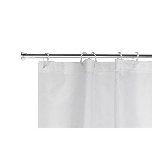 Barra cortina de baño recta cromo 120- 220 cm