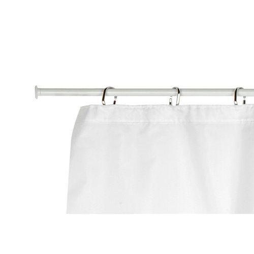 Barra cortina de baño recta blanco 120 cm