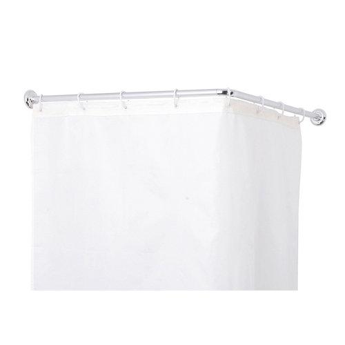 Barra cortina de baño angular cromo 80x90 cm