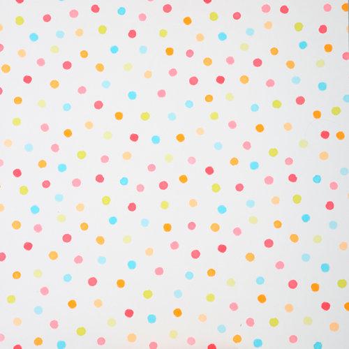 Papel pintado duplex confeti multicolor para 5,3 m²