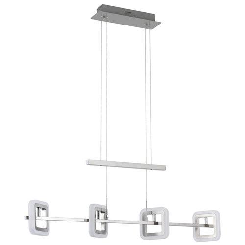 Lámpara de techo led davis gris 4 luces