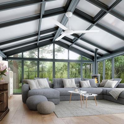 Ventilador de techo sin luz INSPIRE Garbin 142 cm Blanco DC