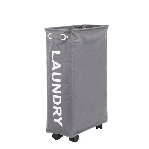 Cesto de ropa gris / plata 40l