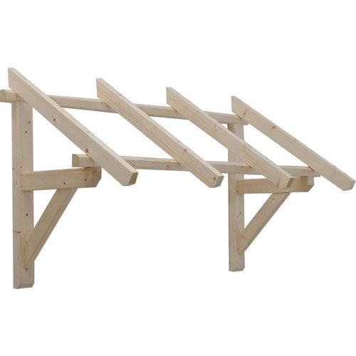 Marquesina de madera de abeto de 139x 80cm