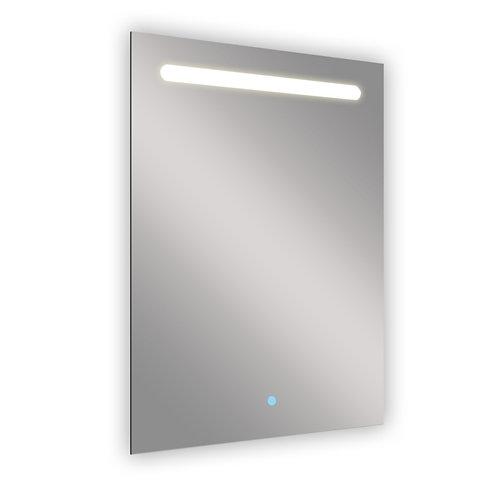 Espejo de baño con luz led push 60 x 80 cm