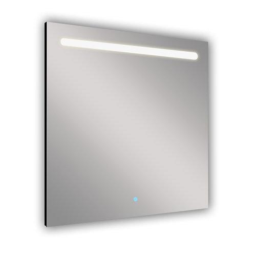 Espejo de baño con luz led push 80 x 80 cm