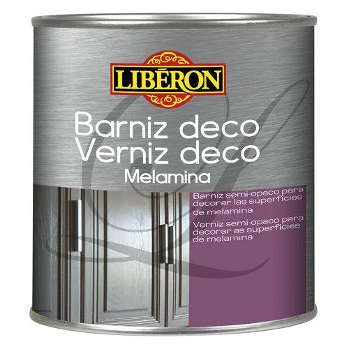 Barniz deco para melamina gris oscuro 0,25l