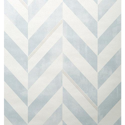 Papel pintado vinílico geométrico italie azul inspire