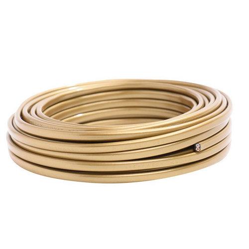 Manguera lexman h03vvh2-f oro 2x0,75 mm² 5 m