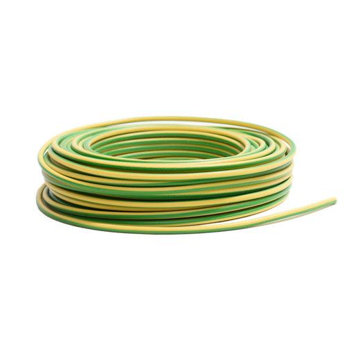 Cable lexman h07v-k vd/amarillo 2,5 mm² 10 m.