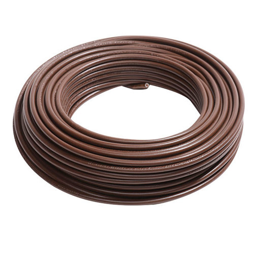 Cable eléctrico lexman h07v-k marrón 4 mm² 10 m