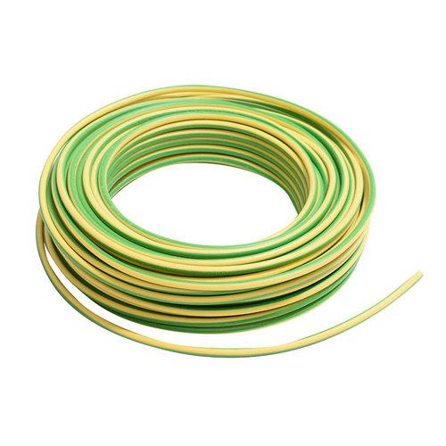 Cable eléctrico lexman h07v-k vd/amarillo 4 mm² 10 m