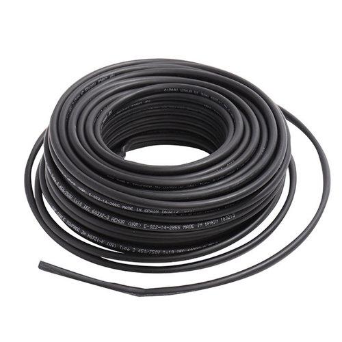 Cable eléctrico lexman h07v-k negro 4 mm² 25 m
