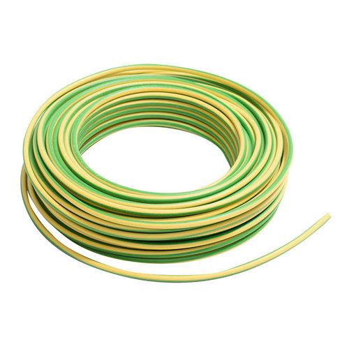 Cable eléctrico lexman h07v-k vd/amarillo 4 mm² 25 m