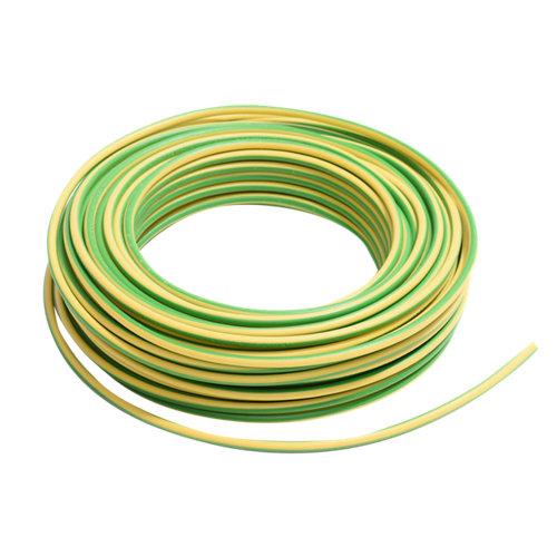 Cable eléctrico lexman h07v-k vd/amarillo 6 mm² 25 m
