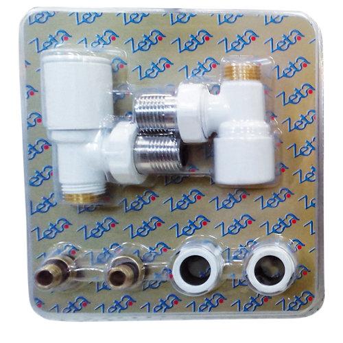 Kit radiador cicsa v13306h válvula+detentor+adaptador