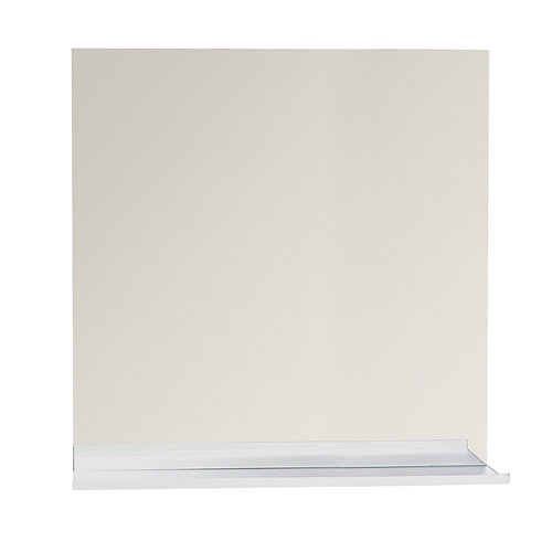 Espejo de baño tecnic gris / plata 80 x 80 cm