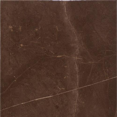 Suelo cerámico de 45x45 cm en color marrón