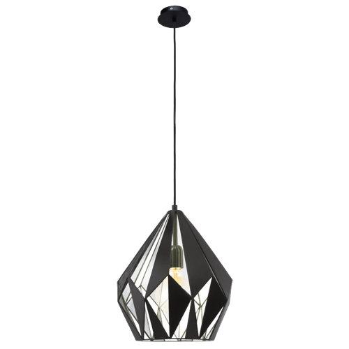 Lámpara de techo carlton 1 luz negro y plata