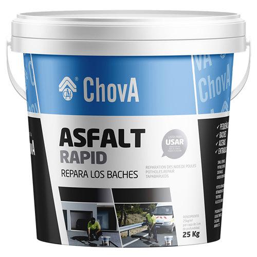 """""""Impermeabilizante asfáltico en frío, perfecto para realizar pequeñas reparaciones en pavimentos de hormigón y asfalto. Es un producto duradero, estable y flexible. Se vende listo para usar. Contenido: 25 kg."""