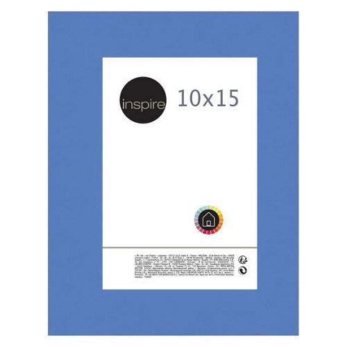 Portafotos marco madera reglis azul 10x15 cm