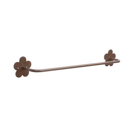 Toallero provenza marrón brillante 52x7 cm
