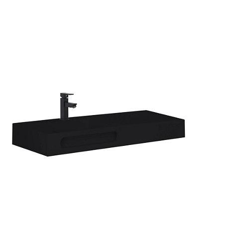 Lavabo zeus negro 81x46 cm