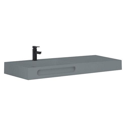 Lavabo zeus gris / plata 121x46 cm