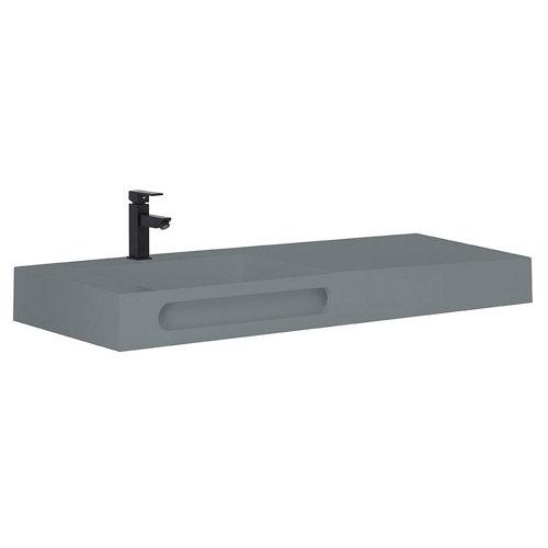 Lavabo zeus gris / plata 101x46 cm