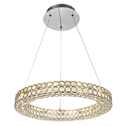 Lámpara de techo led crystal gris 1 luz