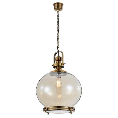 Lámpara de techo vintage marrón 1 luz