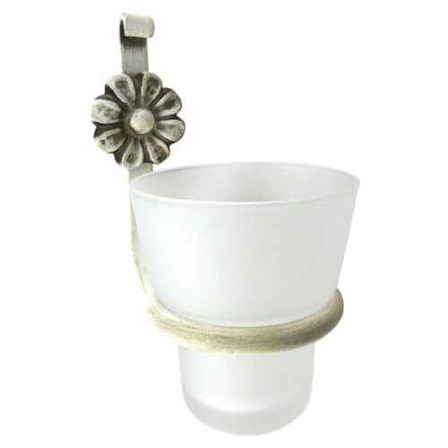 Vaso de baño forja blanco brillante