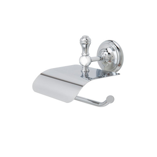 Portarollo wc naevi gris / plata brillante 14x15.5x16 cm